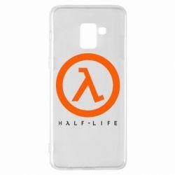Чехол для Samsung A8+ 2018 Half-life logotype