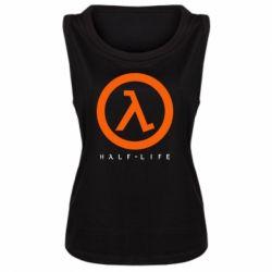 Женская майка Half-life logotype