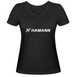 Женская футболка с V-образным вырезом Hamann