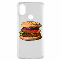 Чехол для Xiaomi Mi A2 Hamburger hand drawn vector