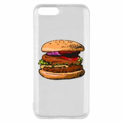 Чехол для Xiaomi Mi6 Hamburger hand drawn vector