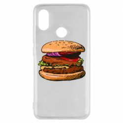 Чехол для Xiaomi Mi8 Hamburger hand drawn vector