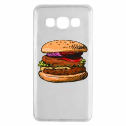 Чехол для Samsung A3 2015 Hamburger hand drawn vector
