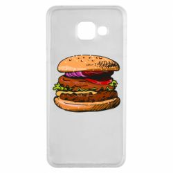 Чехол для Samsung A3 2016 Hamburger hand drawn vector