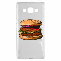 Чехол для Samsung A5 2015 Hamburger hand drawn vector