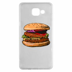 Чехол для Samsung A5 2016 Hamburger hand drawn vector