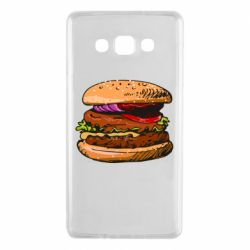 Чехол для Samsung A7 2015 Hamburger hand drawn vector