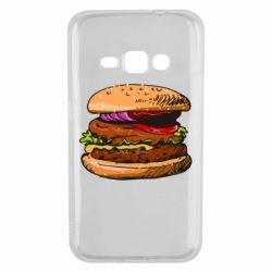 Чехол для Samsung J1 2016 Hamburger hand drawn vector