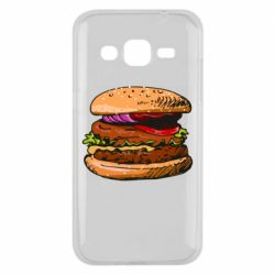 Чехол для Samsung J2 2015 Hamburger hand drawn vector