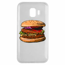 Чехол для Samsung J2 2018 Hamburger hand drawn vector