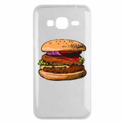 Чехол для Samsung J3 2016 Hamburger hand drawn vector
