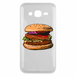 Чехол для Samsung J5 2015 Hamburger hand drawn vector