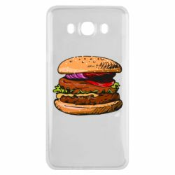 Чехол для Samsung J7 2016 Hamburger hand drawn vector