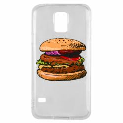 Чехол для Samsung S5 Hamburger hand drawn vector