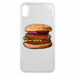 Чехол для iPhone Xs Max Hamburger hand drawn vector