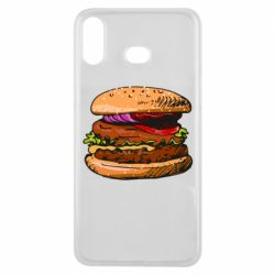 Чехол для Samsung A6s Hamburger hand drawn vector