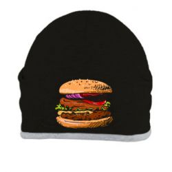 Шапка Hamburger hand drawn vector