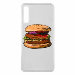 Чехол для Samsung A7 2018 Hamburger hand drawn vector