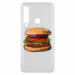Чехол для Samsung A9 2018 Hamburger hand drawn vector