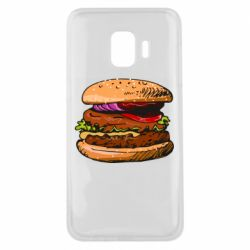 Чехол для Samsung J2 Core Hamburger hand drawn vector
