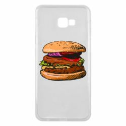 Чехол для Samsung J4 Plus 2018 Hamburger hand drawn vector