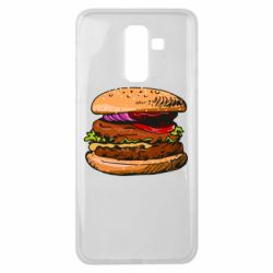 Чехол для Samsung J8 2018 Hamburger hand drawn vector