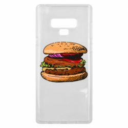 Чехол для Samsung Note 9 Hamburger hand drawn vector