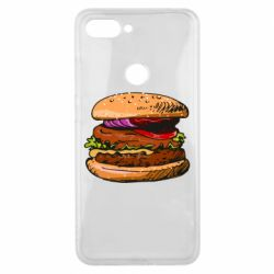 Чехол для Xiaomi Mi8 Lite Hamburger hand drawn vector
