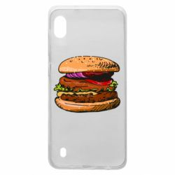 Чехол для Samsung A10 Hamburger hand drawn vector