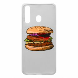 Чехол для Samsung A60 Hamburger hand drawn vector