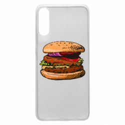 Чехол для Samsung A70 Hamburger hand drawn vector