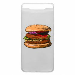 Чехол для Samsung A80 Hamburger hand drawn vector