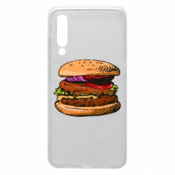 Чехол для Xiaomi Mi9 Hamburger hand drawn vector