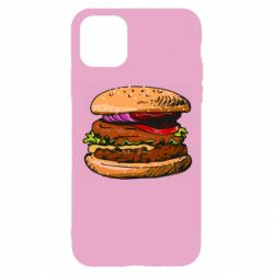 Чехол для iPhone 11 Pro Hamburger hand drawn vector