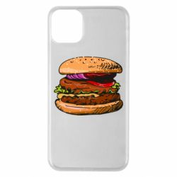 Чехол для iPhone 11 Pro Max Hamburger hand drawn vector