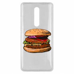 Чехол для Xiaomi Mi9T Hamburger hand drawn vector