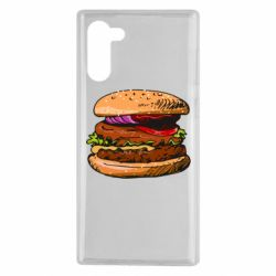 Чехол для Samsung Note 10 Hamburger hand drawn vector