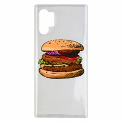 Чехол для Samsung Note 10 Plus Hamburger hand drawn vector