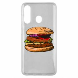 Чехол для Samsung M40 Hamburger hand drawn vector