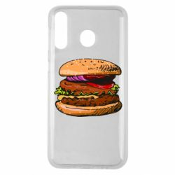 Чехол для Samsung M30 Hamburger hand drawn vector