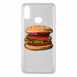 Чехол для Samsung A10s Hamburger hand drawn vector