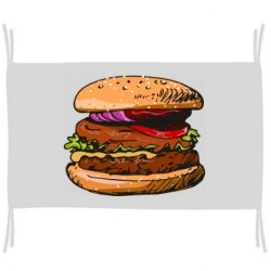 Флаг Hamburger hand drawn vector