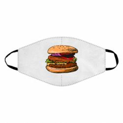 Маска для лица Hamburger hand drawn vector