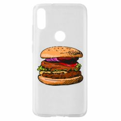 Чехол для Xiaomi Mi Play Hamburger hand drawn vector