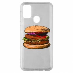 Чехол для Samsung M30s Hamburger hand drawn vector