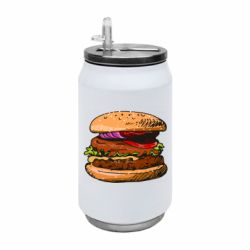 Термобанка 350ml Hamburger hand drawn vector