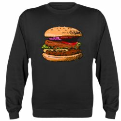 Реглан (свитшот) Hamburger hand drawn vector