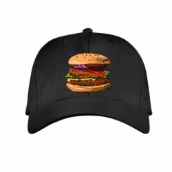 Детская кепка Hamburger hand drawn vector