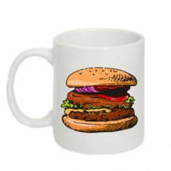 Кружка 320ml Hamburger hand drawn vector