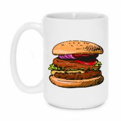 Кружка 420ml Hamburger hand drawn vector